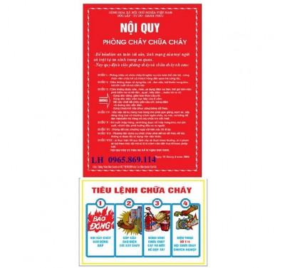 Bán bộ nội quy tiêu lệnh - giá rẻ nhất tại Hưng Yên ĐTLH : 0965 869 114